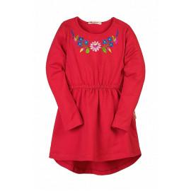 Платье для девочки с вышивкой, красный