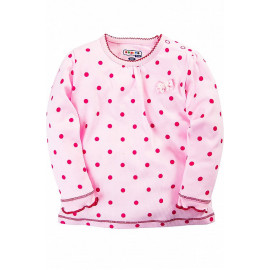 Кофточка для девочки с длинным рукавом, розовый