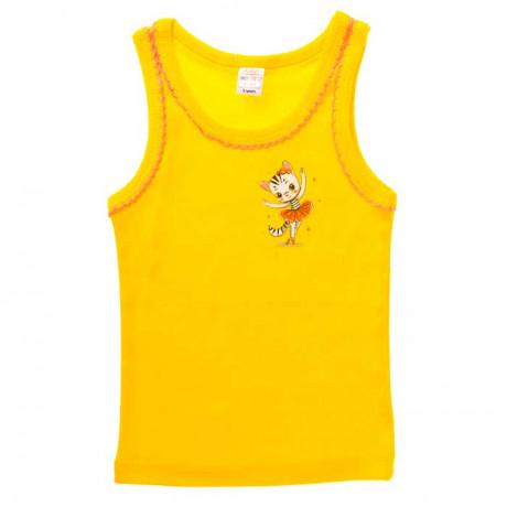 Майка для девочки Кошечка, желтый