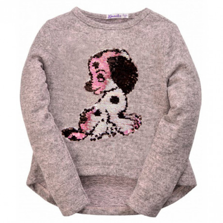 Блуза для девочки Щенок, меланж