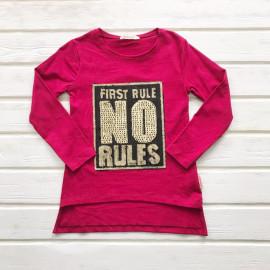 Туника для девочки Правила, бордовый