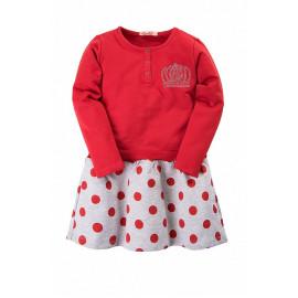 Платье для девочки Корона, красный