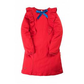 Платье для девочки с бантиком, красный