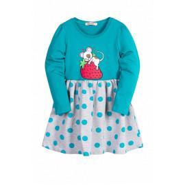 Платье для девочки Мышка, изумруд