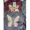 Блуза для девочки Бабочка, меланж