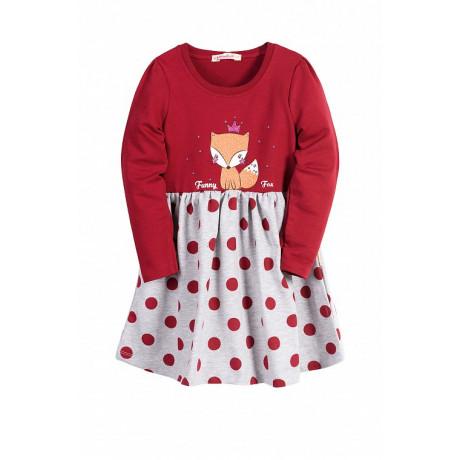 Платье для девочки Лиса, бордовый