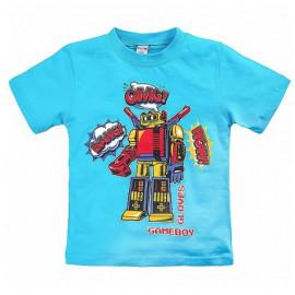 Футболка для мальчика Робот, бирюзовый