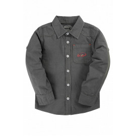 Рубашка для мальчика Однотонная, серый