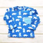 Кофточка для новорожденных с длинным рукавом Мишки, синий