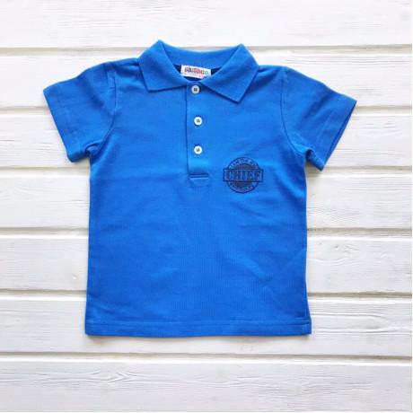 Рубашка поло для мальчика Вышивка, голубой