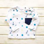 Кофточка для новорожденных с длинным рукавом Ракеты, голубой