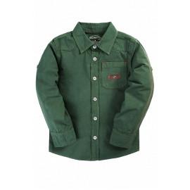 Рубашка для мальчика Однотонная, зеленый