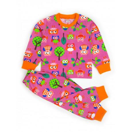 Пижама для девочки Совы, темно-розовый