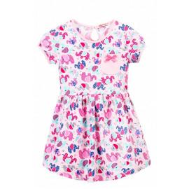 Платье для девочки с карманом Слоники, светло-розовый