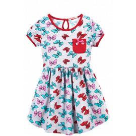 Платье для девочки с карманом Бантики, меланжевый