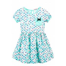 Платье для девочки с карманом Зайки, ментоловый