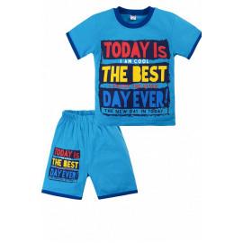 Костюм летний для мальчика Лучший день, голубой