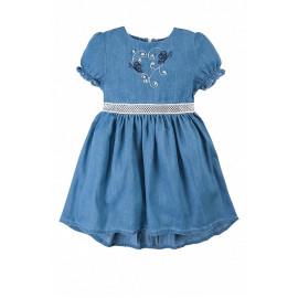 Платье для девочки Вальс бабочек, голубой