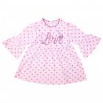 Платьице для малышки Горошек, розовый