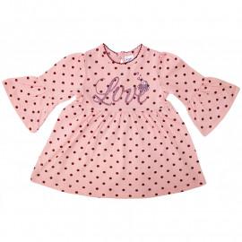 Платьице для малышки Горошек, персиковый