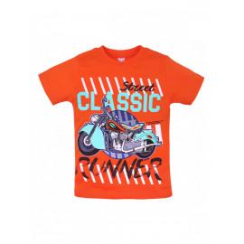 Футболка для мальчика Мотоцикл, оранжевый