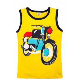 Майка для мальчика Мотоцикл, желтый