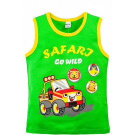 Майка для мальчика Сафари, зеленый