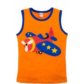 Майка для мальчика Самолет, оранжевый