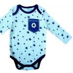 Боди с длинным рукавом Звезда, голубой