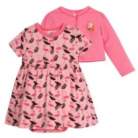 Костюмчик ясельный Фламинго, темно-розовый