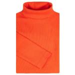 Водолазка детская однотонная в рубчик, оранжевый