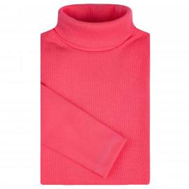 Водолазка детская однотонная в рубчик, розовый
