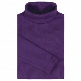 Водолазка детская однотонная в рубчик, лиловый