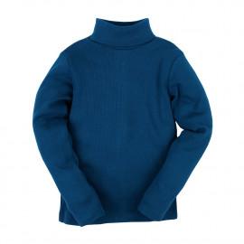 Водолазка детская однотонная в рубчик, синий