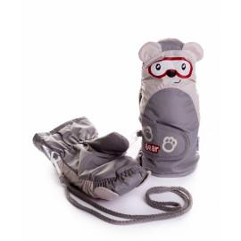 Варежки детские Мишка, серый