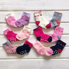 Набор носочков махровых для девочки 2 шт, микс