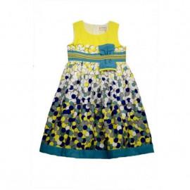 Платье для девочки Пузырьки лимонада, желтый