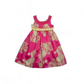 Платье для девочки Огурцы, ярко-розовый
