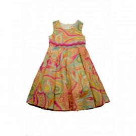 Платье для девочки Огурцы, желтый