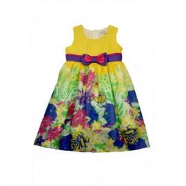 Платье для девочки Фея цветов, желтый