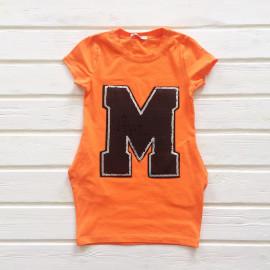 Туника для девочки с пайетками, оранжевый