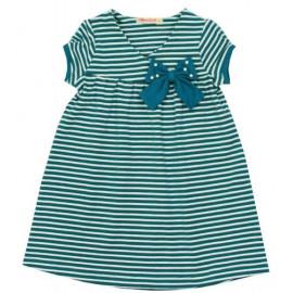 Платье для девочки Полоска, бирюзовый