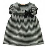 Платье для девочки Полоска, черный