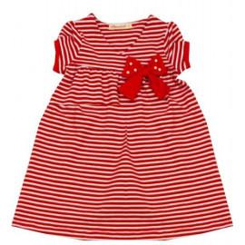 Платье для девочки Полоска, красный