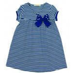 Платье для девочки Полоска, темно-синий