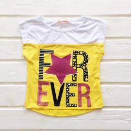 Футболка для девочки Эвер, желтый