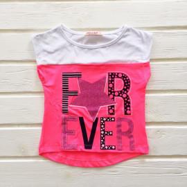 Футболка для девочки Эвер, ярко-розовый