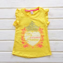 Футболка-туника для девочки, желтый
