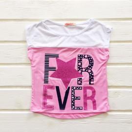 Футболка для девочки Эвер, розовый