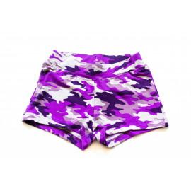 Шорты для девочки  Милитари, фиолетовый